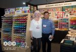Jennifer Moore & Andrew Ngal from Wonderfil Specialty Threads AQM 2018