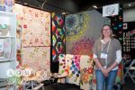 Carolyn Murfitt, Freebird Quilting Design on the CA Booth